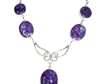 Amazing Russian Charoite Necklace 48cm 30g