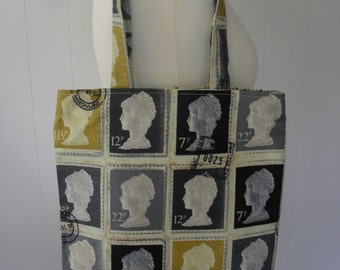 UK First Class Postage Stamps Tote Bag. Item No. LDC0081