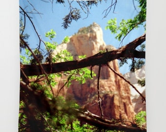 Zion Canyon Tapestry, National Parks, Utah Tapestry, Mountain Tapestry, Landscape Tapestry, Southwest Tapestry, Zion Wall Hanging, America