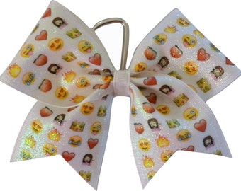 Cheer Bow Keychain | Emoji Key Chain Cheer Bow | Backpack Cheer Bow | Key Chain Cheer Bow