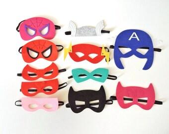 Sale - Superhero Mask - Birthday Party - Party Favors - Avengers Mask - Superhero - Superhero Cape- Avenger Outfit- SuperHero Outfit