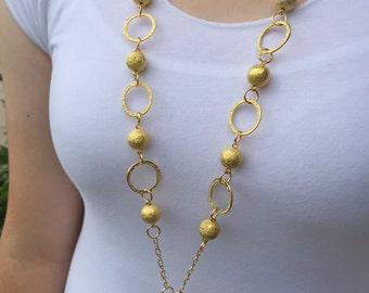 Golden Stardust Lanyard Necklace - on sale now!