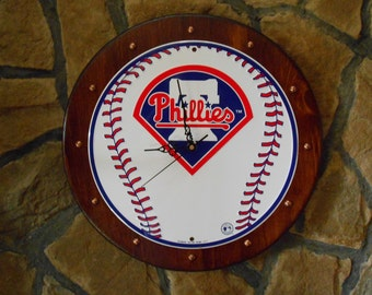 Phillies Baseball....Quartz Wall Clock.
