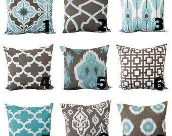 One Premier Prints  teal Pillow Covers, cushion, decorative pillow, throw pillow, feather pillow