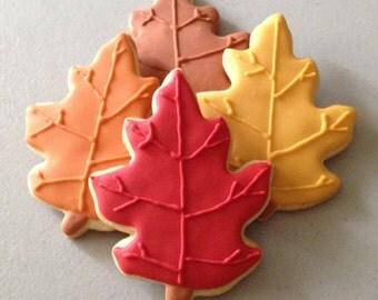 Fall Oak Leaf Sugar Cookies