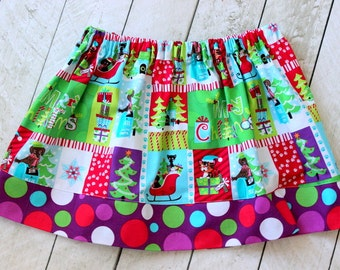 girls christmas skirt christmas skirt Christmas clothin for girls skirt baby girl skirt for christmas red purple aqua green christmas outfit
