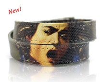 "Caravaggio ""Medusa"" Handmade Canvas Bracelet, Women Bracelet, Women's Bracelet, Canvas Painting, Men's Bracelet, Art Jewelry, Men Bracelet"