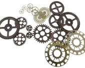 FN66453 - Bag of Gears -  Steampunk Costume Decoration Accessory