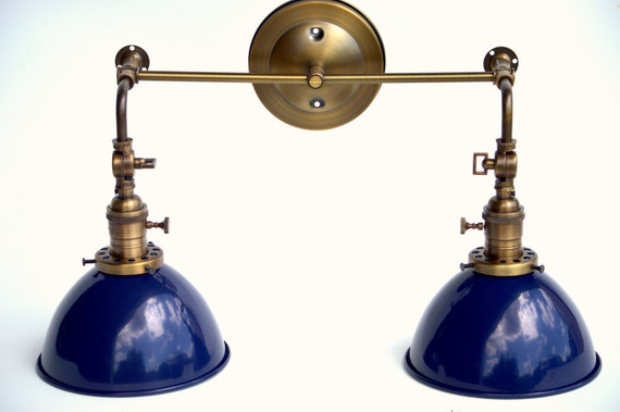 Vanity Light Wood Metal With Punched Tin Lamp Shades: Kitchen Light Bathroom Fixture Wall Sconce With Metal Cone