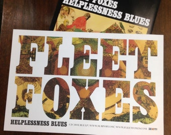 Fleet Foxes Helplessness Blues  Album Release Poster Duo