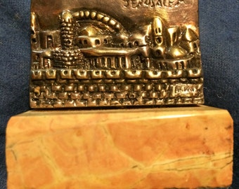Small sterling silver Jerusalem figurine