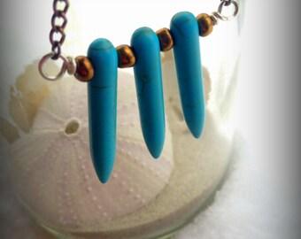 3 Piece Turquoise Dagger Necklace