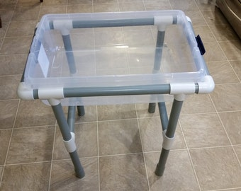 Sensory table with lid great for small space or classrooms/ sand and water table