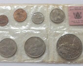 1967 New Zealand Specimen Coins Set