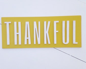 Mustard yellow THANKFUL
