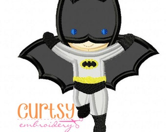 Batboy Embroidery Design, Batboy Applique Design, Batman embroidery design, Batman applique design