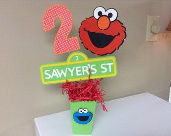 Sesame Street  Centerpieces/Diaper cake picks