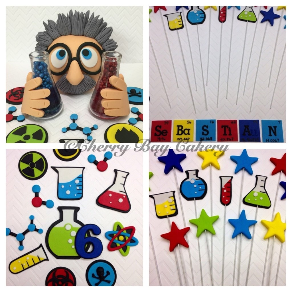 Mad Scientist Cake Topper