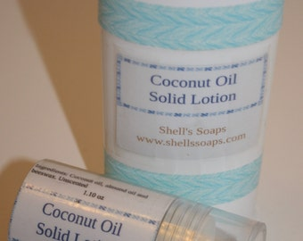 Organic Coconut & Almond Oil Solid Lotion Bar Tube