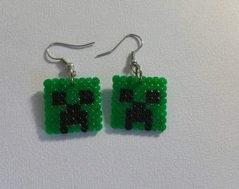 Minecraft earrings