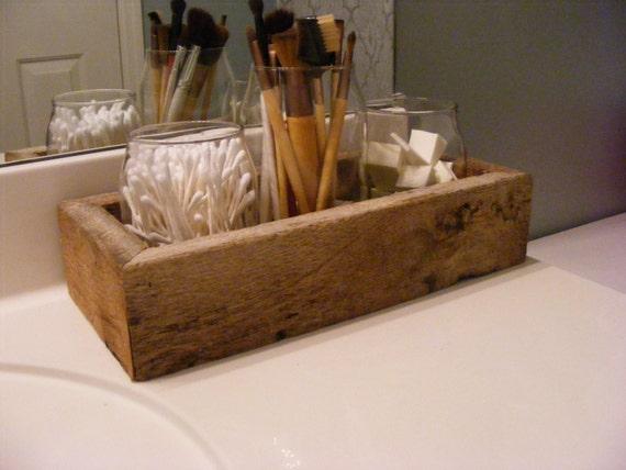 Barnwood bathroom organizer rustic bathroom decor rustic for Barnwood decor