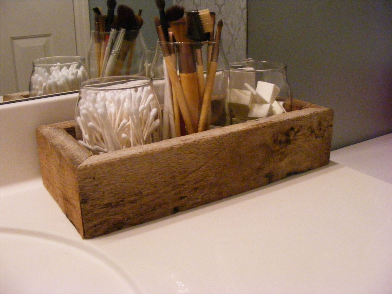 barnwood bathroom organizer rustic bathroom decor rustic