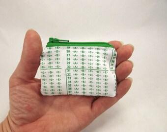 scantron coin purse, teacher gift, teacher wallet, green scantron, teacher zipper pouch, elementary school coin purse, school teacher gift