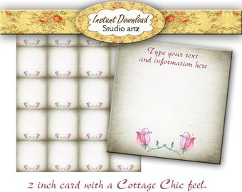 Custum Jewelry Cards - Earring Cards - Cottage Chic - Necklace Cards - Jewelry Display Cards - Editable Earring Cards - Printable Cards