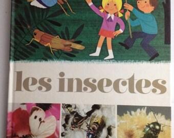 """Retro kids book """"Les Insectes"""" by Alain Grée"""