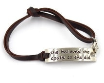 Lot of 26 She Believed She Could So She Did, Inspriational Bracelets