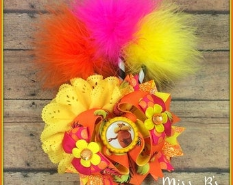 The Lorax Hair Bow, Dr Seuss Inspired, Cat in the Hat, Dr Seuss Day, Lorax Over the Top Hair Bow