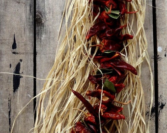 Chili Peppers Garland - Kitchen Decoration