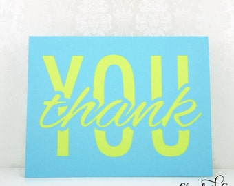 CLEARANCE 50% off- Thank You Cards, Thank You Notes, Bright Thank You Card, Unique Handmade Card, Greeting Cards
