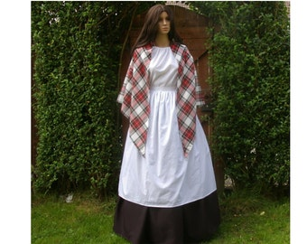 Ladies Victorian mill workerr 4pc costume