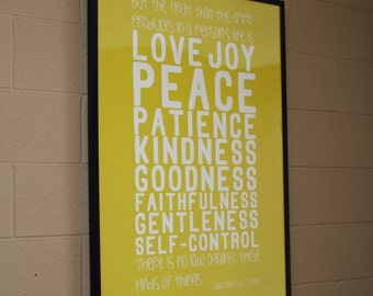 Galatians 5:22 23 Large Movie Poster Sized Print | Scripture Wall Art Part 48