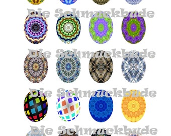 V-00016 - Template for Cabochons 30x40mm