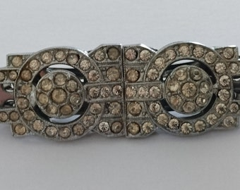 vintage paste dress clips/brooch
