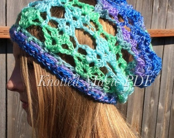 PDF Dragonfly Slouch Hat, slouch hat pattern, crochet hat pattern, crochet PDF, All season slouch, hippie hat,