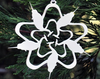 Narwhal Snowflake Ornament