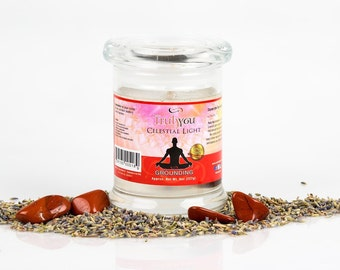 Holiday Candle, Gel Candle Free Shipping! Raspberry Vanilla Crystal Candle, Gem Candle, Gemstone Candle, Scented Candle,