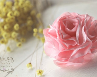 "Fabric flower hair clip: Pink ""Sophia"""