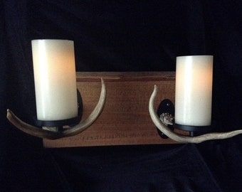 Antler Candle wall sconce