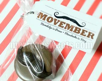 Chocolate Covered Oreos Moustache - Movember treat