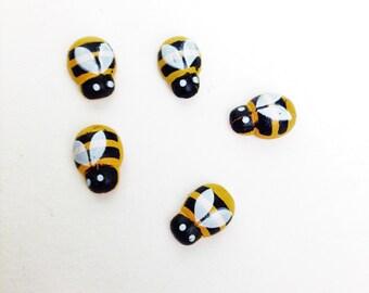 5 Miniature Bees Fairy Garden