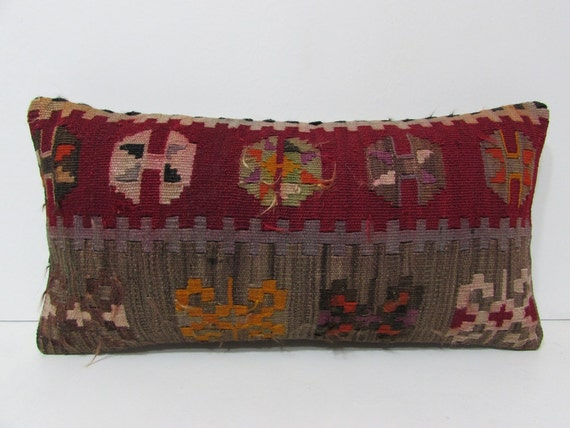 Southwestern Lumbar Pillow : kilim pillow lumbar southwestern pillow by DECOLICKILIMPILLOWS