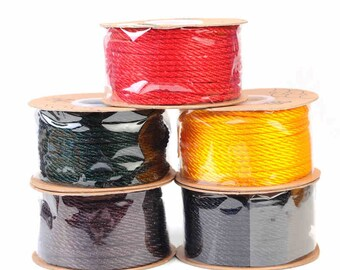 1 roll 3mm thick Satin Cord / Silk Thread, Nylon Cord for Making Jewelry, 27Yards/Roll, 5 colors to choose (SC33)