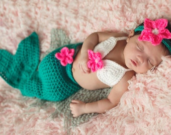 Baby Mermaid Costume - baby mermaid outfit -  Mermaid Tail Outfit - Mermaid Tail Blanket - Newborn mermaid costume - mermaid photoprop