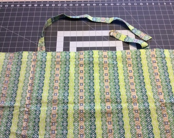 Nursing Cover, Greens and Gold Stripes
