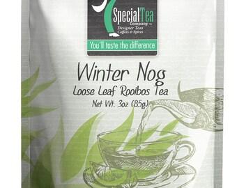 3 oz. Winter Nog Rooibos Tea with Free Tea Infuser