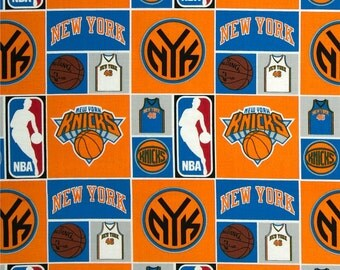 New York Knicks National Basketball NBA 83NYK Orange Cotton Fabric by Camelot! [Choose Your Cut Size]